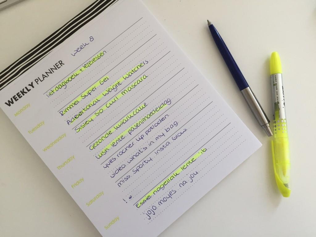 Lief dagboek en lezeressen week 8