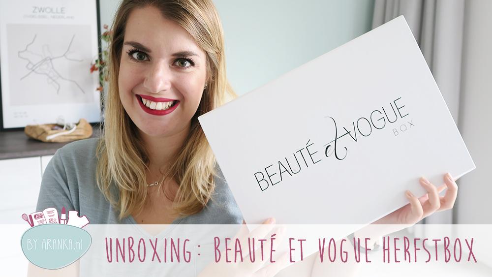 Unboxing: Beauté et Vogue Autumn Box