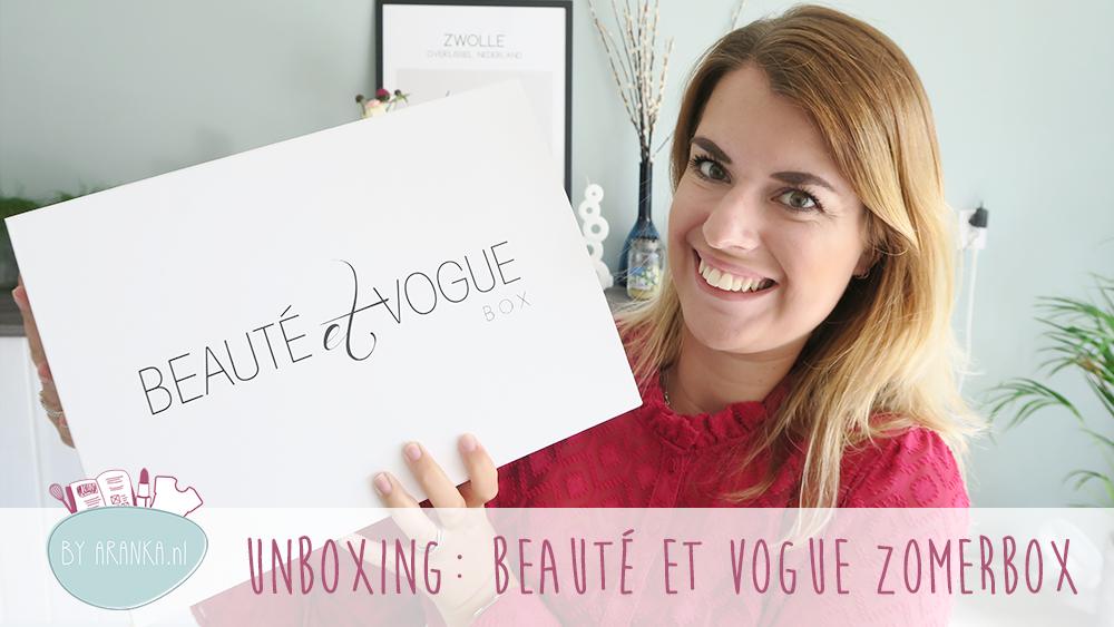 UNBOXING: Beauté et Vogue Zomerbox
