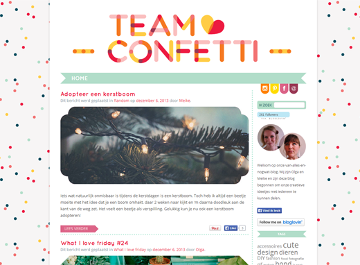 Lovely Blog: Team Confetti