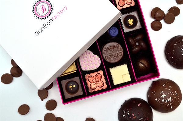 Heerlijke chocolaatjes van de BonbonFactory