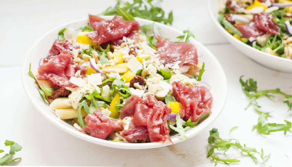 Recept: Carpaccio pastasalade