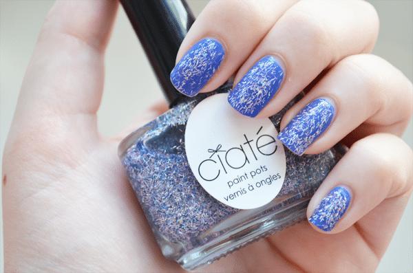 NOTD: Blauwe holografische glitter!