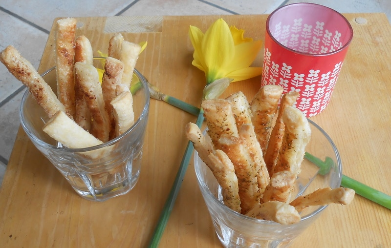 Recept: bladerdeegstengels