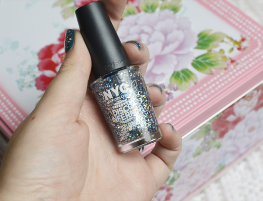 NYC Dicso Inferno Glitter Topcoat