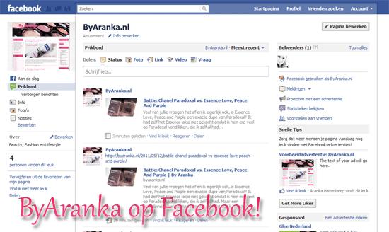 ByAranka op Facebook!