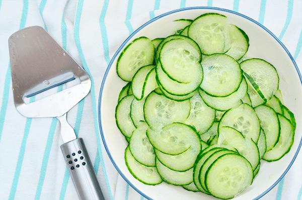 Frisse Komkommer Salade