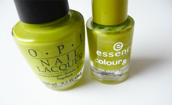 Battle: OPI Who The Shrek Are You vs. Essence Lime Up!
