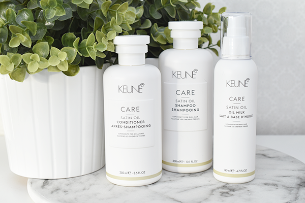 Keune Care Satin Oil Shampoo, Conditioner & Milk