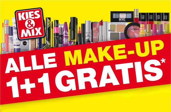 Aanraders Kruidvat 1 + 1 gratis make-up actie