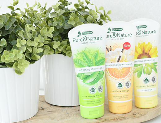 Kruidvat Pure & Nature Shower Gels