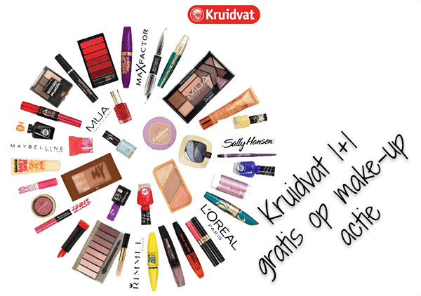 Kruidvat make-up 1+1 gratis en aanraders