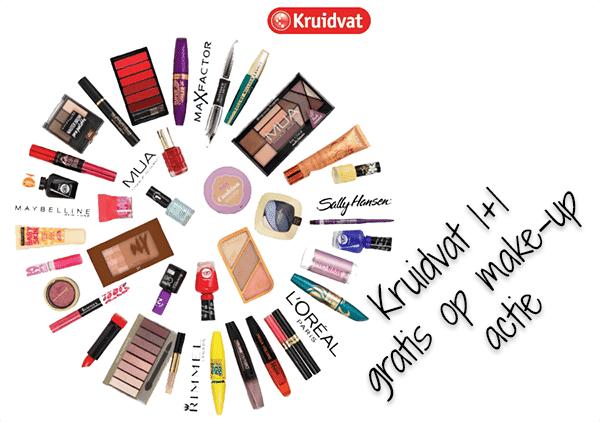 Kruidvat make-up 1+1 gratis en aanraders