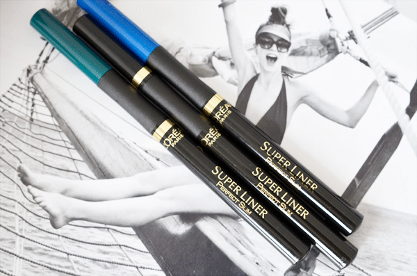 L'Oréal Super Liner Perfect Slim Black, Blue & Green
