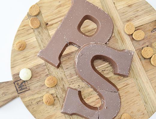 Lidl Chocoladeletters met zeezout, karamel en kruidnootjes