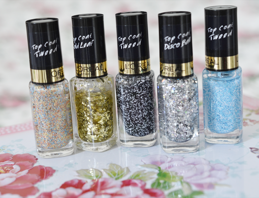 L'Oréal Tweed & Glitter Topcoats