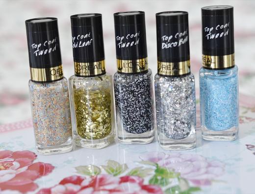 L'Oréal Tweed & Glitter Topcoats