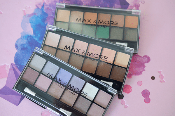 MAX & MORE Eyeshadow Palette's