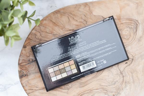 MUA 15 Shade Palette Fire Vixen, Matte Feather Light & Heavenly Neutral