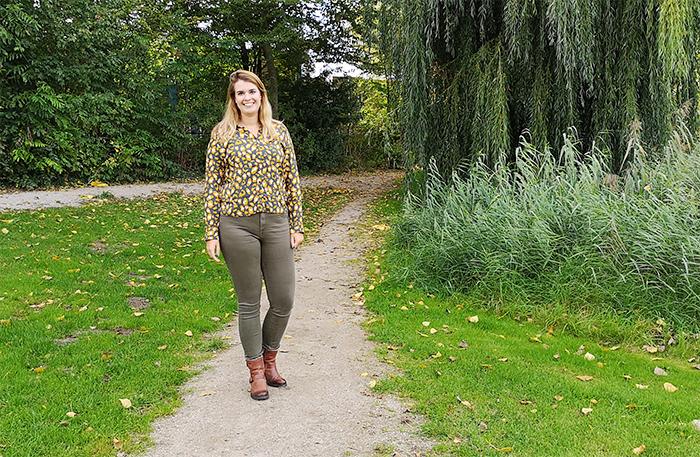 Outfit: Herfstig met groen en okergeel