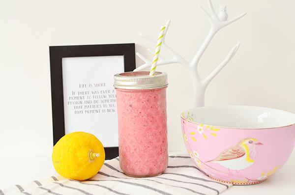 Snelle en gezonde ontbijt smoothie