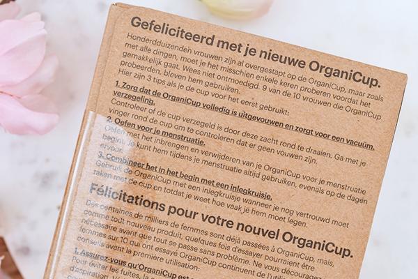 Ervaring: OrganiCup Menstruatiecup