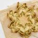 Kerstster brood met pesto