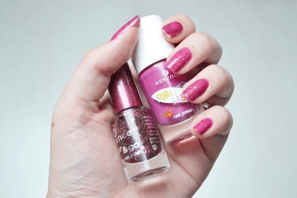 NOTD: Pink glitters!