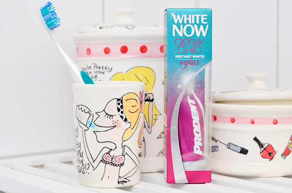 Prodent White Now Glossy Chic Instant White + Gloss Tandpasta