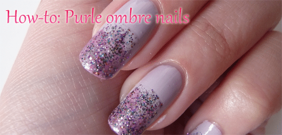 How-to: Purple ombre nails