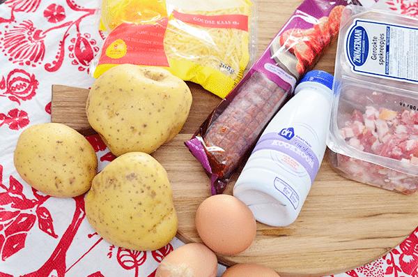 Recept: Rakott Krumpli, Hongaarse Aardappelschotel