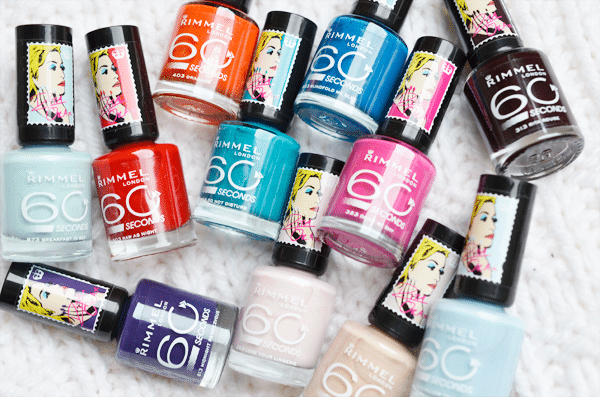Rimmel 60 Seconds Colour Rush Nail Collection By Rita Ora