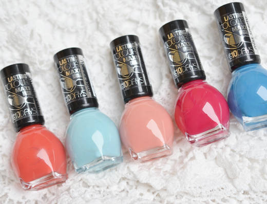 Miss Sporty Lasting Colour Nailpolish Voorjaarskleuren