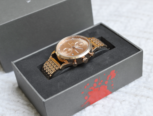 New In: Triwa Rosé Lansen Chrono Rose Brace van 10:35
