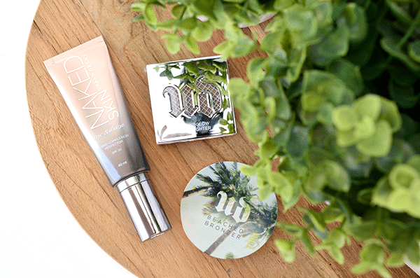 Urban Decay Naked Skin, Beached Bronzer & Afterglow Highlight