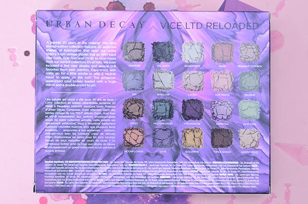 Urban Decay XX Vice LTD Reloaded palette