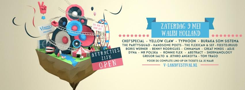 Win tickets voor het V-land festival in Walibi