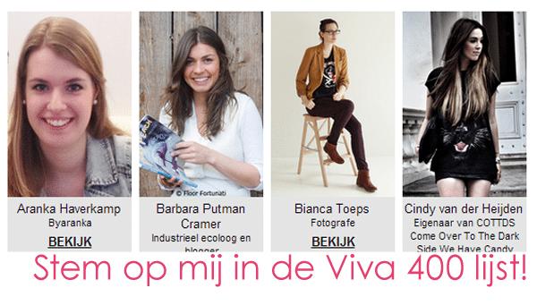 Stem voor mij in de Viva 400 lijst!