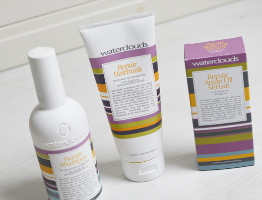 Waterclouds Repair shampoo, masker en argan oil serum