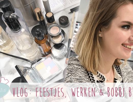 Weekvlog: Feestjes, werken en opmaken bij Bobbi Brown