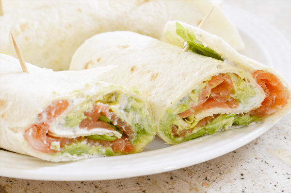 Recept: Wraps met avocado en zalm