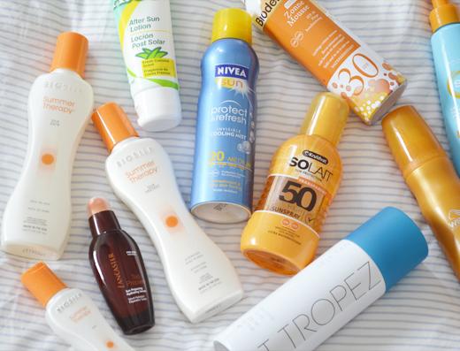 Mijn favoriete producten voor de zon