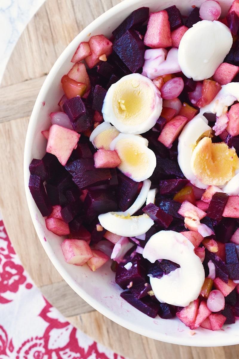 Recept: frisse zoetzure bietensalade