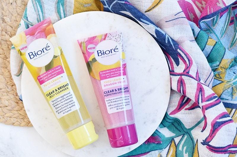 Bioré Clear & Bright Jelly Cleanser en Exfoliator