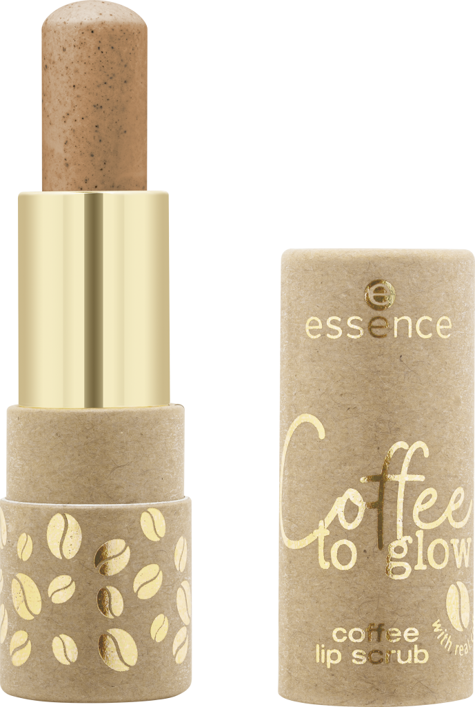 essence Coffee to glow coffee lip scrub 01 Image Front View Full Open png