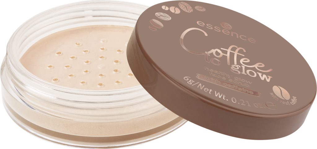 essence Coffee to glow healthy glow face scrub 01 Image Front View Full Open png