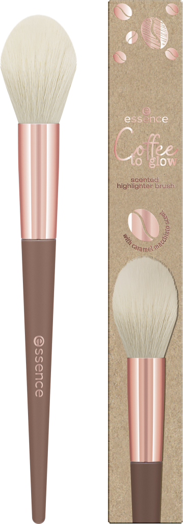 essence Coffee to glow scented highlighter brush 01 Image Front View Full Open png