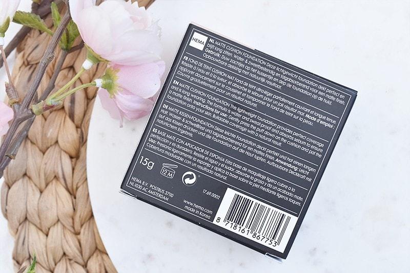 HEMA Korean Beauty Fluffy Matte Cushion Foundation