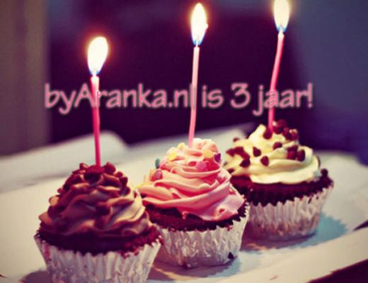 byAranka.nl is 3 jaar! + winactie