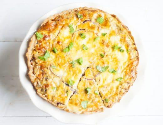 Recept: Quiche met kaas en ui